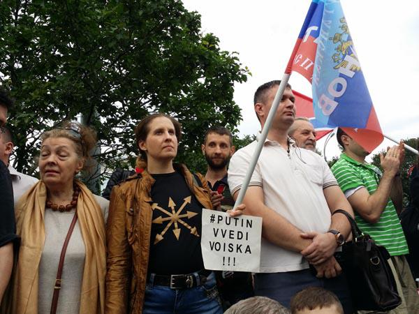 Стоим за Донбасс - митинг в поддержку Новороссии в Москве 11 июня 2014 года Суворовская площадь - Путин введи войска! Наталья Макеева